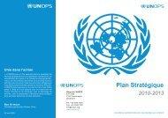 Plan stratégique 2010-2013 - UNOPS