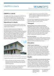 UNOPS in Liberia