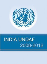 India UNDAF 2008-2012 - UNOPS