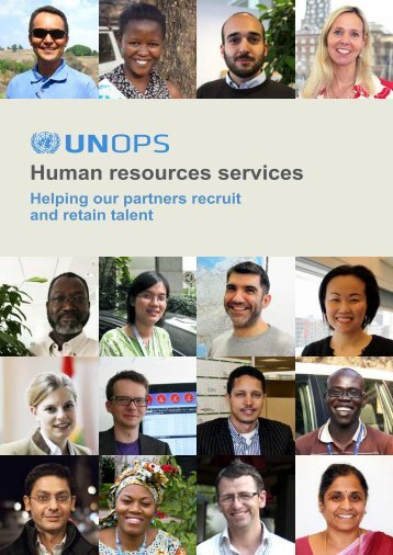 Read UNOPS human resources services catalogue: Helping our ...