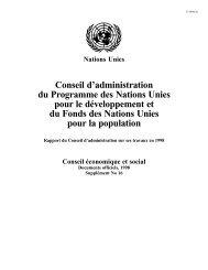 Conseil d'administration du Programme des Nations Unies ... - UNOPS