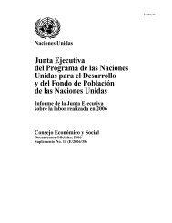 Junta Ejecutiva del Programa de las Naciones Unidas ... - UNOPS