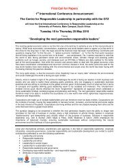 First Call for Papers 1st International Conference ... - PRME