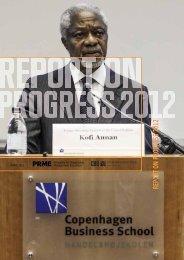 REPORT ON PROGRESS 2012 - PRME
