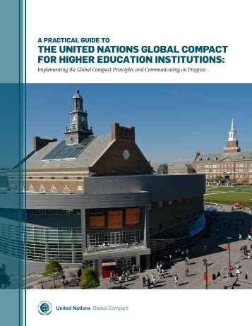 the united nAtions GlobAl comPAct for hiGher educAtion ... - PRME