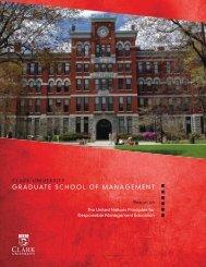 Graduate School of Management (GSOM) - View Report - PRME