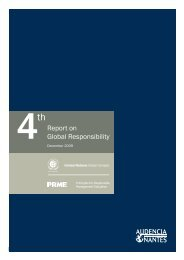 Report on Global Responsibility - PRME