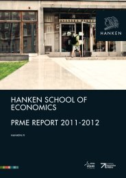 HANKEN SCHOOL OF ECONOMICS PRME REPORT 2011-2012