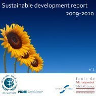 Sustainable development report 2009-2010 - Principles for ...