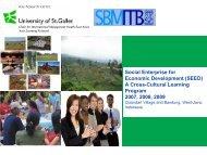 Social Enterprise For Economic Development - PRME