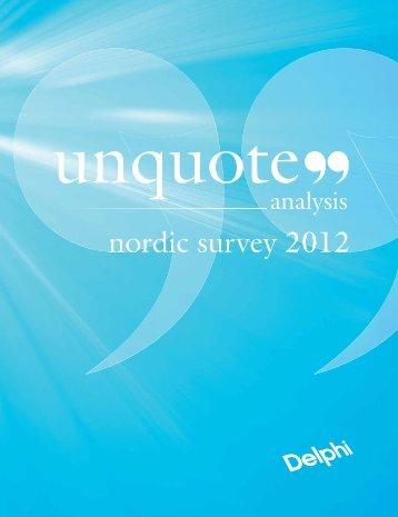 nordic survey 2012 - Delphi