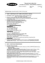 Bezpečnostní datovğ list v souladu se směrnicí 1907/2006/ES ...