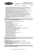 Bezpečnostní datovğ list v souladu se směrnicí 1907/2006/ES ... - Page 4