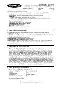 Bezpečnostní datovğ list v souladu se směrnicí 1907/2006/ES ... - Page 5