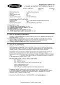 Bezpečnostní datovğ list v souladu se směrnicí 1907/2006/ES ... - Page 6