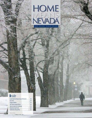 Home Means Nevada - University of Nevada, Reno