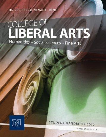College of Liberal Arts - University of Nevada, Reno