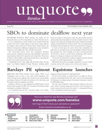 latest digital edition of Benelux unquote