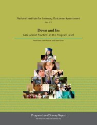 Assessment Practices at the Program Level - National Institute for ...