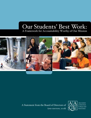 Our Students' Best Work - Association of American Colleges and ...