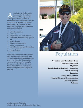 Elders Count Nevada: 2013 Population