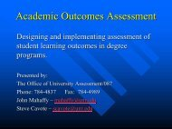 Academic Outcomes Assessment