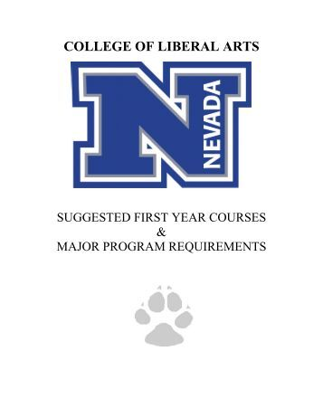 College Handbook - University of Nevada, Reno