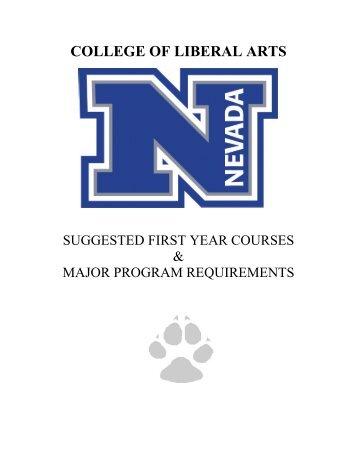 College Handbook - University of Nevada, Reno