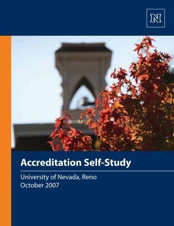 2007 Self-Study - University of Nevada, Reno