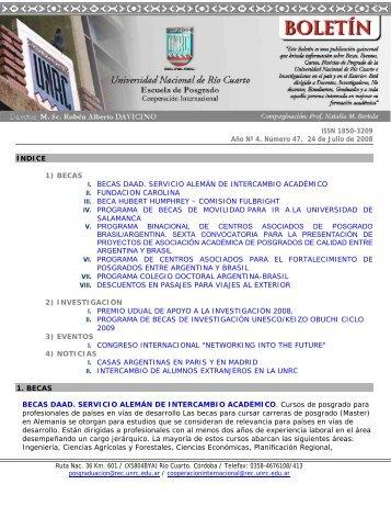 ISSN 1850-3209 Año Nº 4. Número 47. 24 de Julio de 2008 ÍNDICE ...