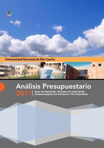 Ejecución presupuestaria 2011 Descargar (PDF) - Universidad ...