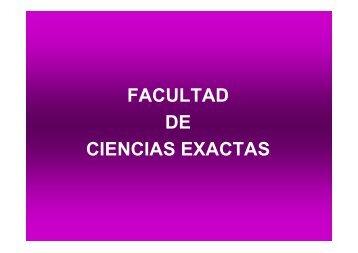 Facultad de Ciencias Exactas, Físico-Químicas y Naturales