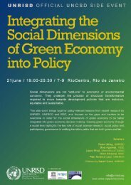 Flyer - United Nations Research Institute for Social Development