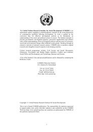 Lessons from Transition Economies - United Nations Research ...