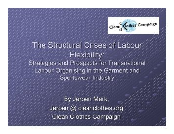 The Structural Crises of Labour Flexibility:
