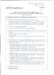 Izveštaj o kandidatu za izbor u zvanje docenta za užu naučnu oblast ...