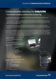 Communication interface for GSM/GPRS - Energy-efficient pumps ...