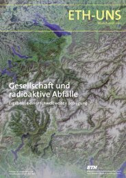 ETH-UNS - ETH Zurich - Natural and Social Science Interface - ETH ...