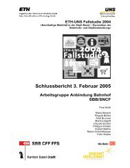 Schlussbericht 3. Februar 2005 Arbeitsgruppe ... - ETH Zürich