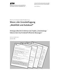 """Wave 2 der Grossbefragung """"Mobilität und Autokauf"""" - ETH Zurich ..."""
