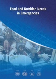Food and Nutrition Needs in Emergencies - UNSCN