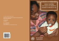 World Health Organization - Health Library for Disasters