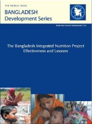 The Bangladesh Integrated Nutrition Project – Effectiveness