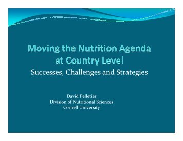 Mainstreaming Nutrition Initiative by David Pelletier (pdf file - UNSCN