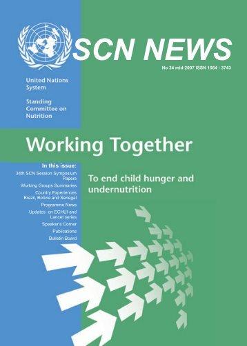 SCN News No 34 - UNSCN