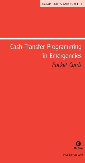 Cash-Transfer Programming in Emergencies - UNSCN