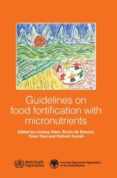 Guidelines on food fortification with micronutrients - UNSCN