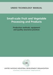 Small-scale Fruit and Vegetable Processing and Products - unido