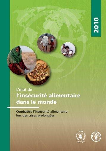 Etat de l'insécurité alimentaire dans le monde - FAO