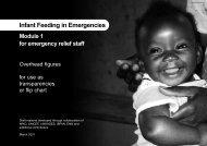 Infant Feeding in Emergencies - UNSCN